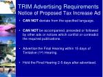 trim advertising requirements notice of proposed tax increase ad1