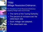 trim millage resolution ordinance