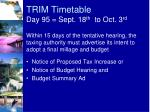 trim timetable day 95 sept 18 th to oct 3 rd