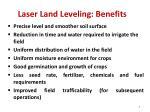 laser land leveling benefits