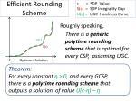 efficient rounding scheme