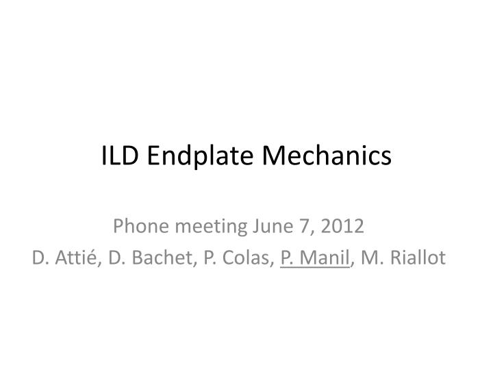 ild endplate mechanics n.