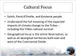 cultural focus