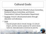 cultural goals