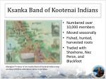 ksanka band of kootenai indians