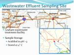 wastewater effluent sampling site