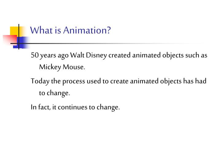 what is animation n.