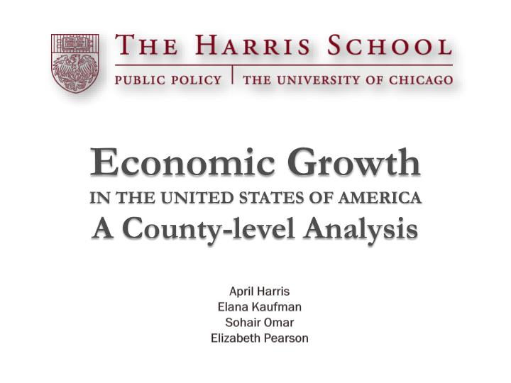 economic growth in the united states of america a county level analysis n.