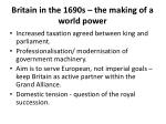 britain in the 1690s the making of a world power