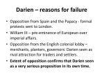 darien reasons for failure