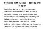 scotland in the 1690s politics and religion
