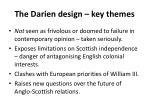 the darien design key themes
