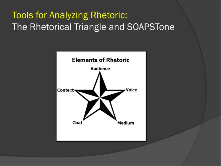 tools for analyzing rhetoric the rhetorical triangle and soapstone n.
