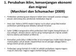 1 perubahan iklim kensenjangan ekonomi dan migrasi marchiori dan schumacher 2009