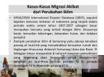 k asus kasus migrasi akibat dari p erubahan i klim