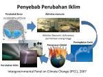 penyebab p erubahan iklim