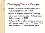 challenging times in georgia