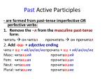past active participles