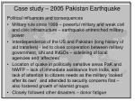 case study 2005 p akistan earthquake