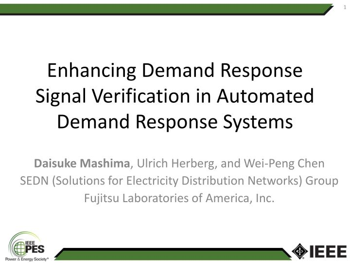 enhancing demand response signal verification in automated demand response systems n.