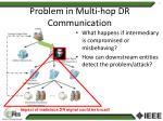 problem in multi hop dr communication