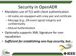 security in openadr