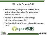 what is openadr