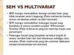 sem vs multivariat