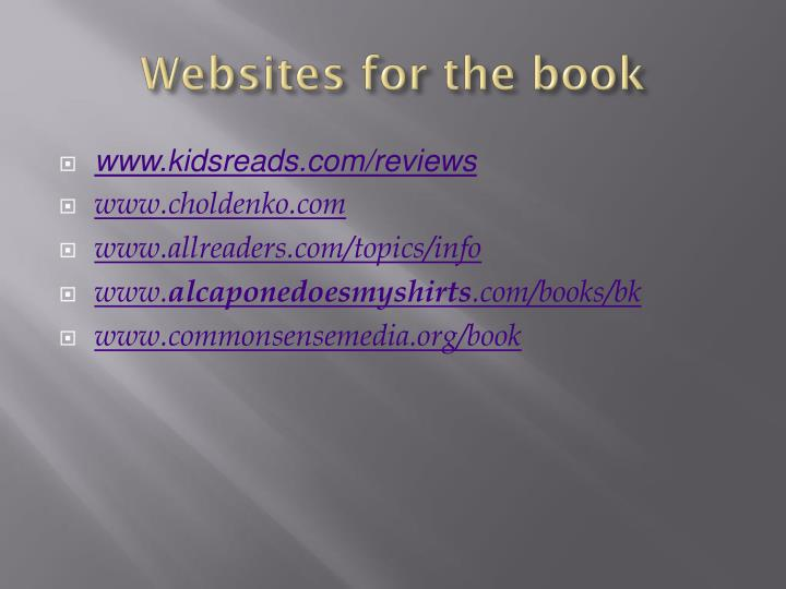 Websites for the book