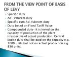 from the view point of basis of levy