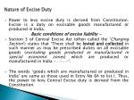 nature of excise duty