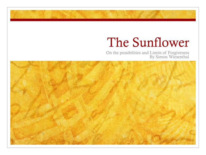 the sunflower n.