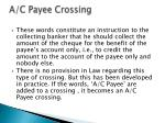 a c payee crossing