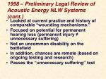 1998 preliminary legal review of acoustic energy nlw systems cont1