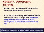 humanity unnecessary suffering1
