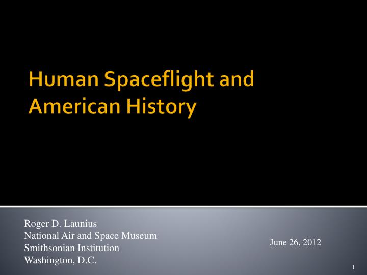 human spaceflight and american history n.