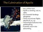 the culmination of apollo