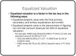 equalized valuation