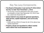 key tax levy components
