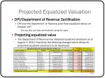 projected equalized valuation