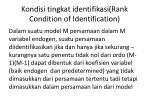 kondisi tingkat identifikasi rank condition of identification