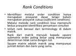 rank conditions