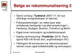 b lge av rekommunalisering 2