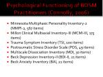 psychological functioning of bdsm practitioners connolly 20061