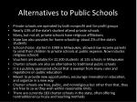alternatives to public schools