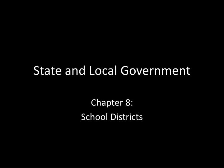 state and local government n.