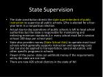 state supervision