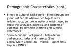 demographic characteristics cont1