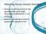 detecting human genetic disorders