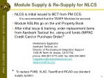 module supply re supply for nlcs